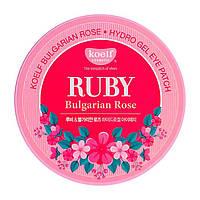 Гидрогелевые Патчи Для Глаз С Рубином KOELF Ruby & Bulgarian Rose Eye Patch, 60 шт