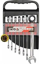 Набор ключей комбинированных с трещоткой Yato 7 предметов