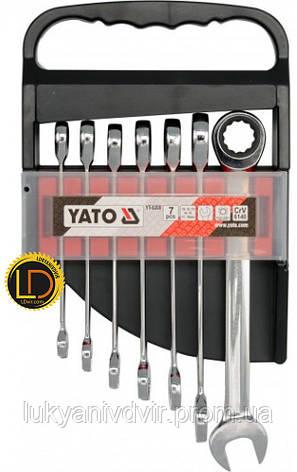 Набор ключей комбинированных с трещоткой Yato 7 предметов, фото 2
