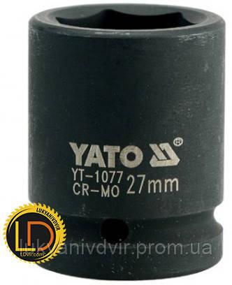 Головка Yato ударная 6-гранная 3/4 27мм, фото 2