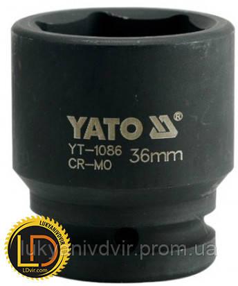 Головка Yato ударная 6-гранная 3/4 36мм, фото 2