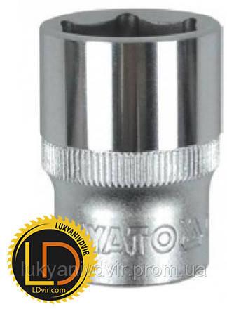 Головка Yato торцевая короткая 6-гранная CrV 1/2 8мм