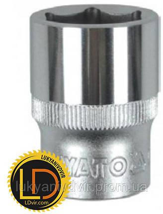 Головка Yato торцевая короткая 6-гранная CrV 1/2 21мм
