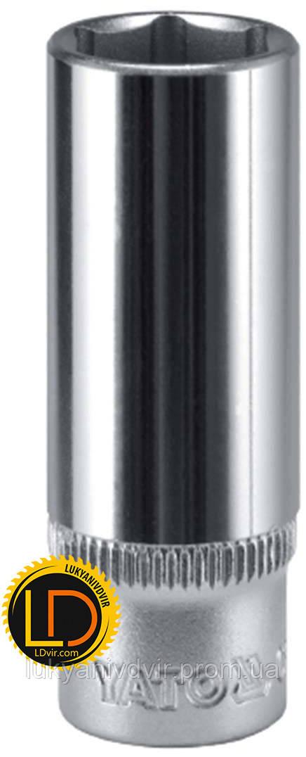 Головка Yato торцевая длинная CrV 1/2 9мм