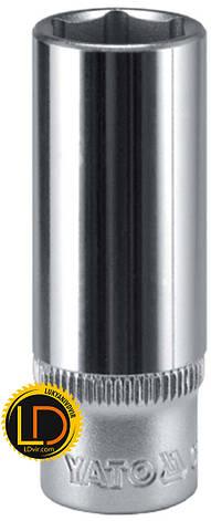 Головка Yato торцевая длинная CrV 1/2 9мм, фото 2