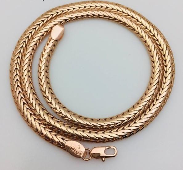 Цепочка плетение Кельт+ колосс, Н-5 длина 50 см, ювелирная бижутерия