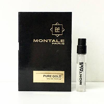 Пробник духов оригинал MONTALE Pure Gold 2мл, Нишевые духи женские Монталь Пур Голд / Чистое Золото