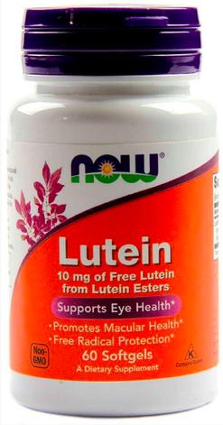 Витамины для глаз NOW Lutein 10 мг - 60 soft caps, фото 2