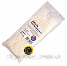 Хомуты пластиковые белые CarLife 4,8x450 100шт