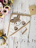 Полотенце уголок для новорождённых для купания