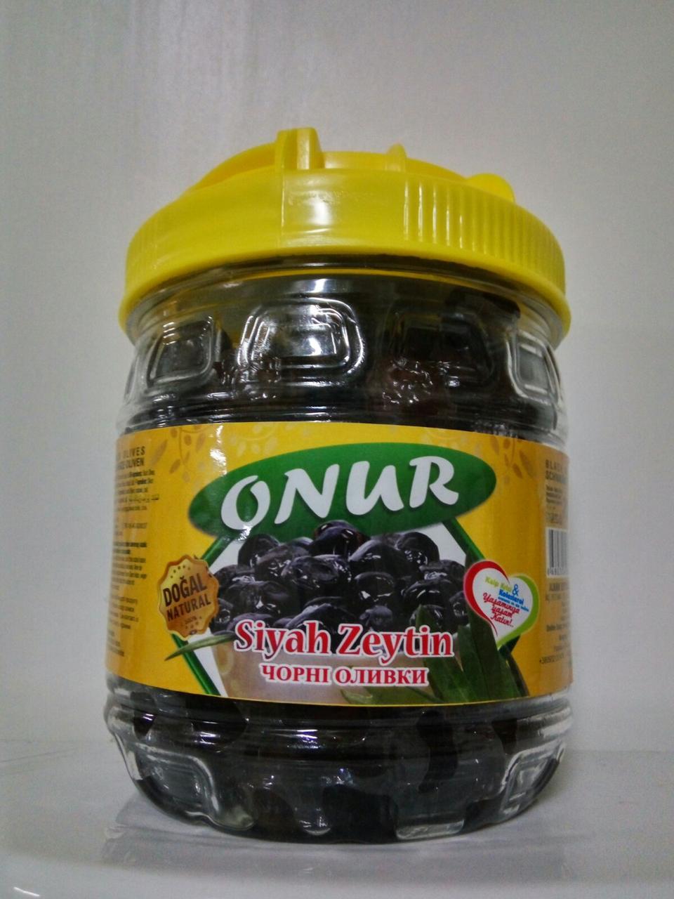Черные оливки вяленые ТМ ONUR, 700 мл