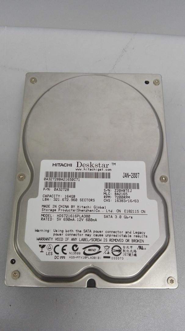 Жесткий диск Hitachi Deskstar 164гб, SATA 2, 7200 об, винчестер