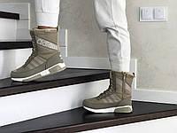 Женские зимние кроссовки оливковые Adidas 8528