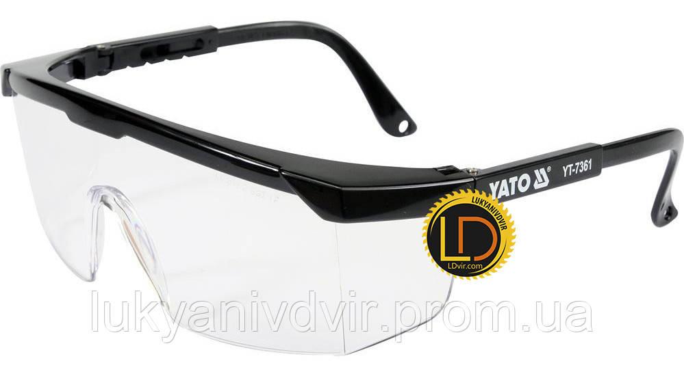 Очки защитные прозрачные Yato
