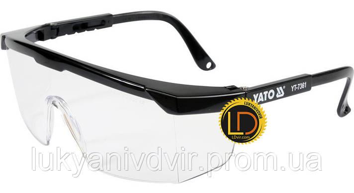Очки защитные прозрачные Yato, фото 2