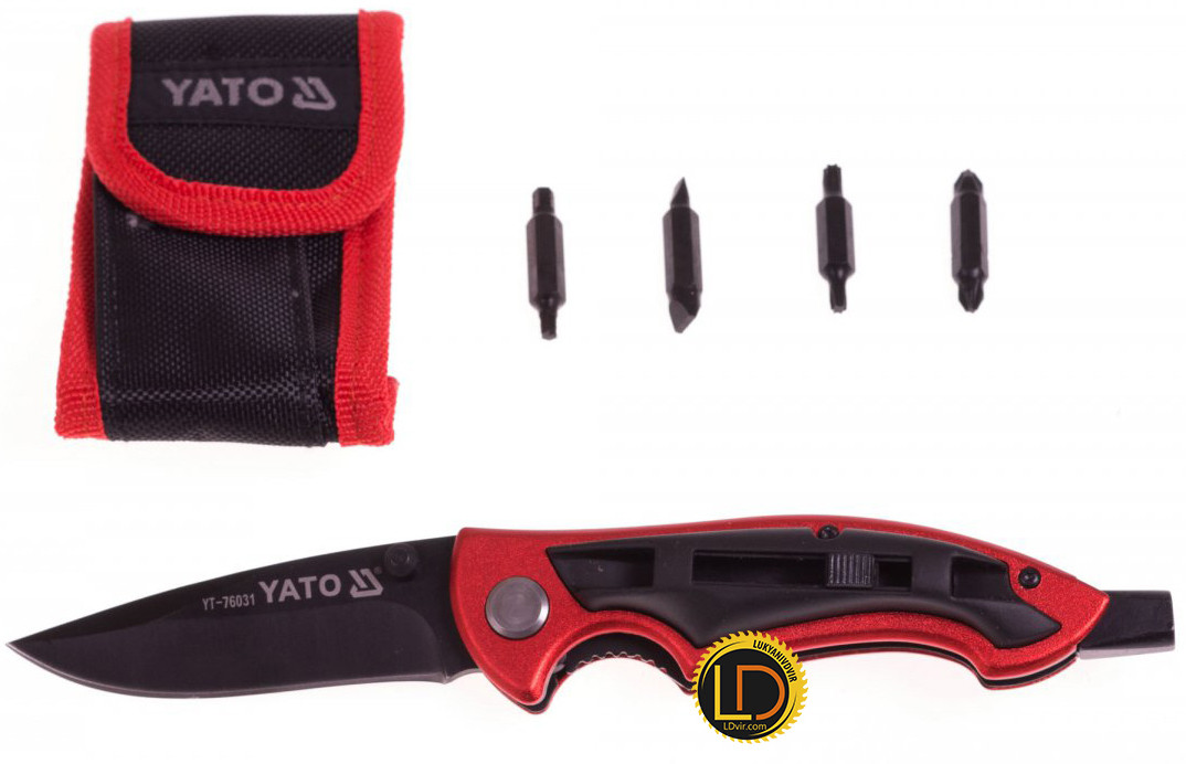 Нож складной и биты Yato YT-76031