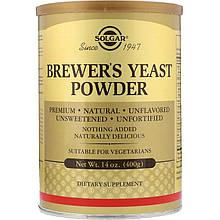 """Пивные дрожжи, SOLGAR """"Brewer's Yeast Powder"""" в порошке (400 г)"""