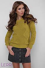 Стильный женский зимний свитер темно-серый, фото 2