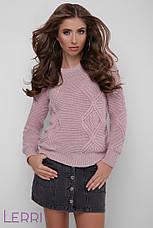 Стильный женский зимний свитер темно-серый, фото 3