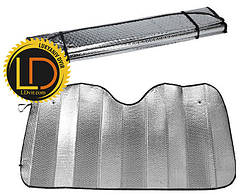 Шторка солнцезащитная лобовая серебряная 145х70см