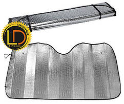 Шторка солнцезащитная лобовая серебряная 150х80см