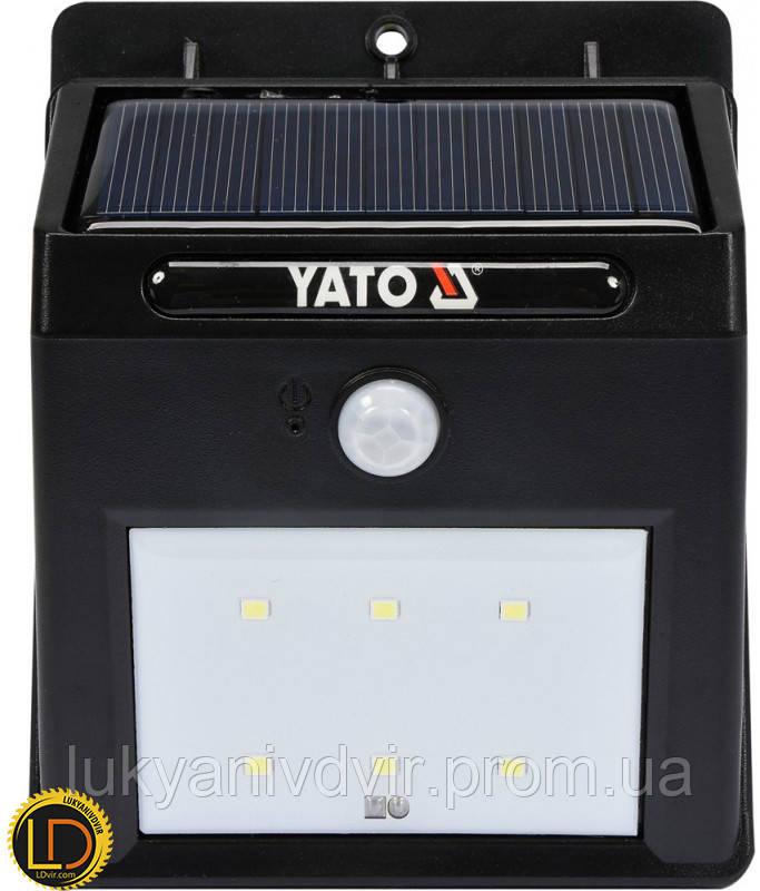 Фонарь настенный на солнечой батареи Yato