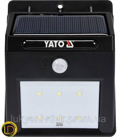 Фонарь настенный на солнечой батареи Yato, фото 2