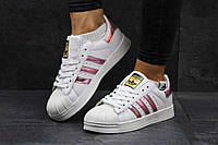 Женские кроссовки Adidas Superstar белые 2735