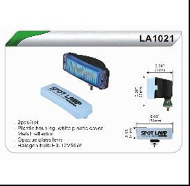 Фари додаткові 1021 W LA (H3-12V-55W/170x54мм кришка) DLAA