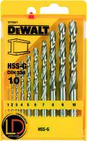 Набор сверл по металлу HSS-G DeWalt DT5921