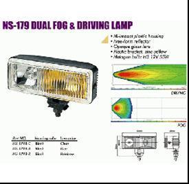 Фари додаткові SIRIUS NS-179 B-C  2xH3/12V/55W