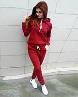 """НЕ КИТАЙ!!! Спортивный костюм на флисе. Супер трендовый костюм цвет """"Красный"""""""