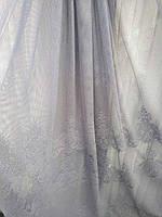 Тюль занавески портьеры ширина 285 см сублимация узор 7 цвет фиолетовый