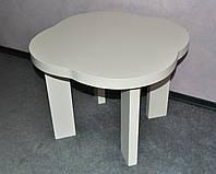 Детской столик Облако из ольхи белый