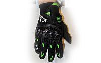 Мотоперчатки кожаные Alpinestars M10-BK (закр.пальцы, протектор-усилен, р-р L, черный)