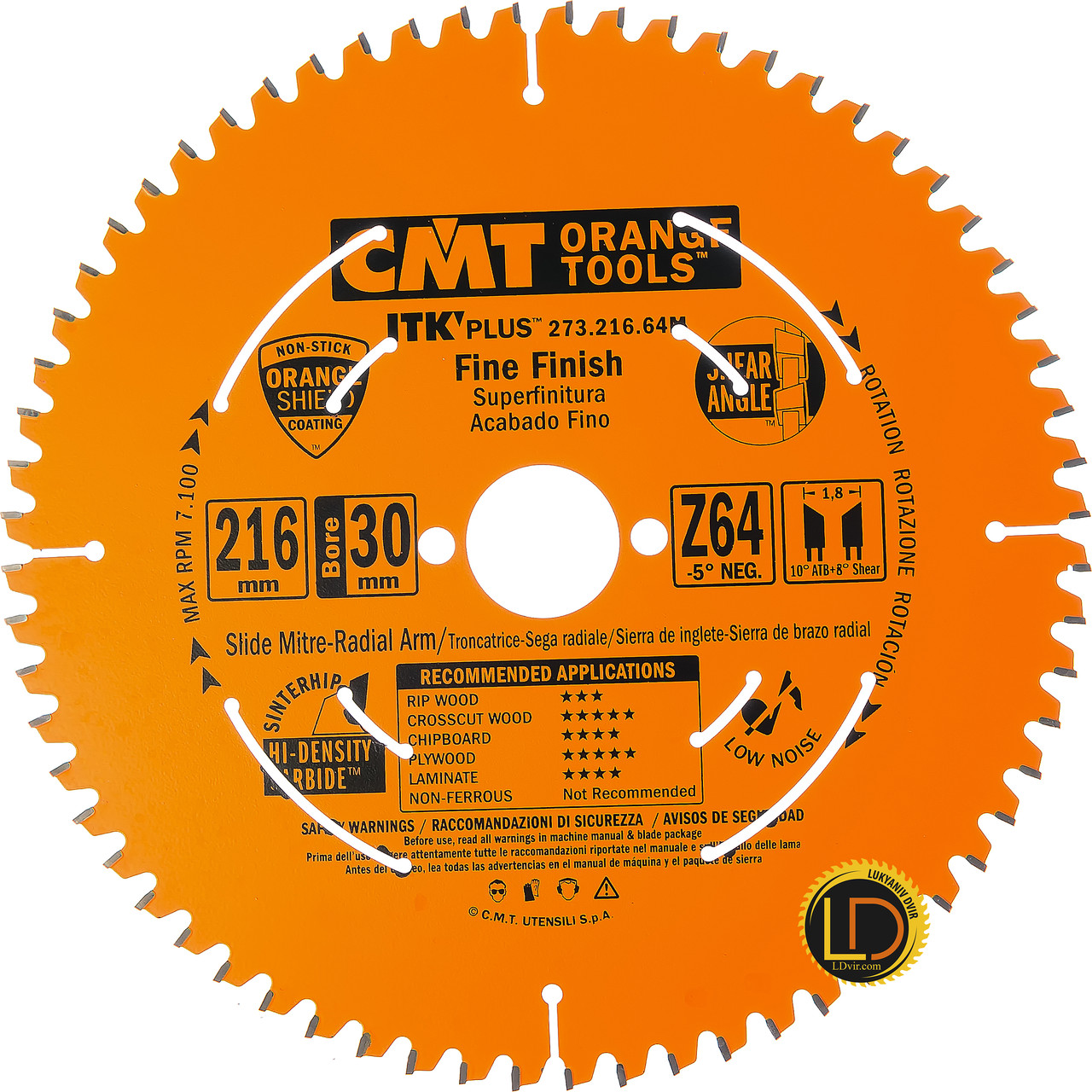 Пильный диск CMT 216х30 Z64