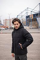 Куртка зимняя мужская теплая качественная черная теплая Glacier