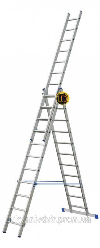 Лестница ELKOP 3-секц. раскладная 3х15ст, 4.0-9.8м VHR P
