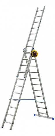 Лестница ELKOP 3-секц. раскладная 3х15ст, 4.0-9.8м VHR P, фото 2