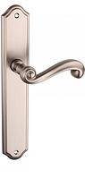 Ручка дверная на планке Tupai CARLA1 704 без отверстия никель полированный (Португалия)