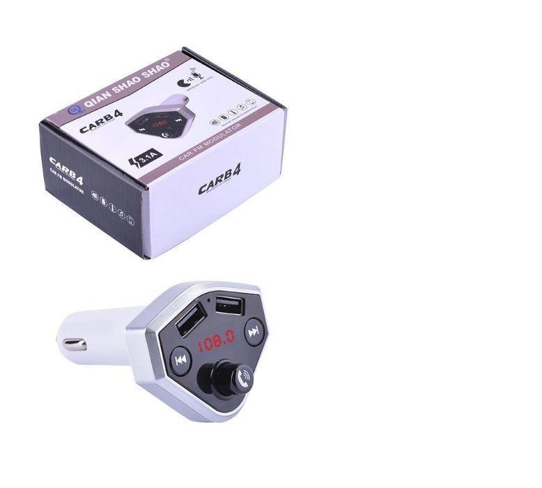 FM Трансмиттер, модулятор, Bluetooth, гарнитура CARB 4, USB, TF