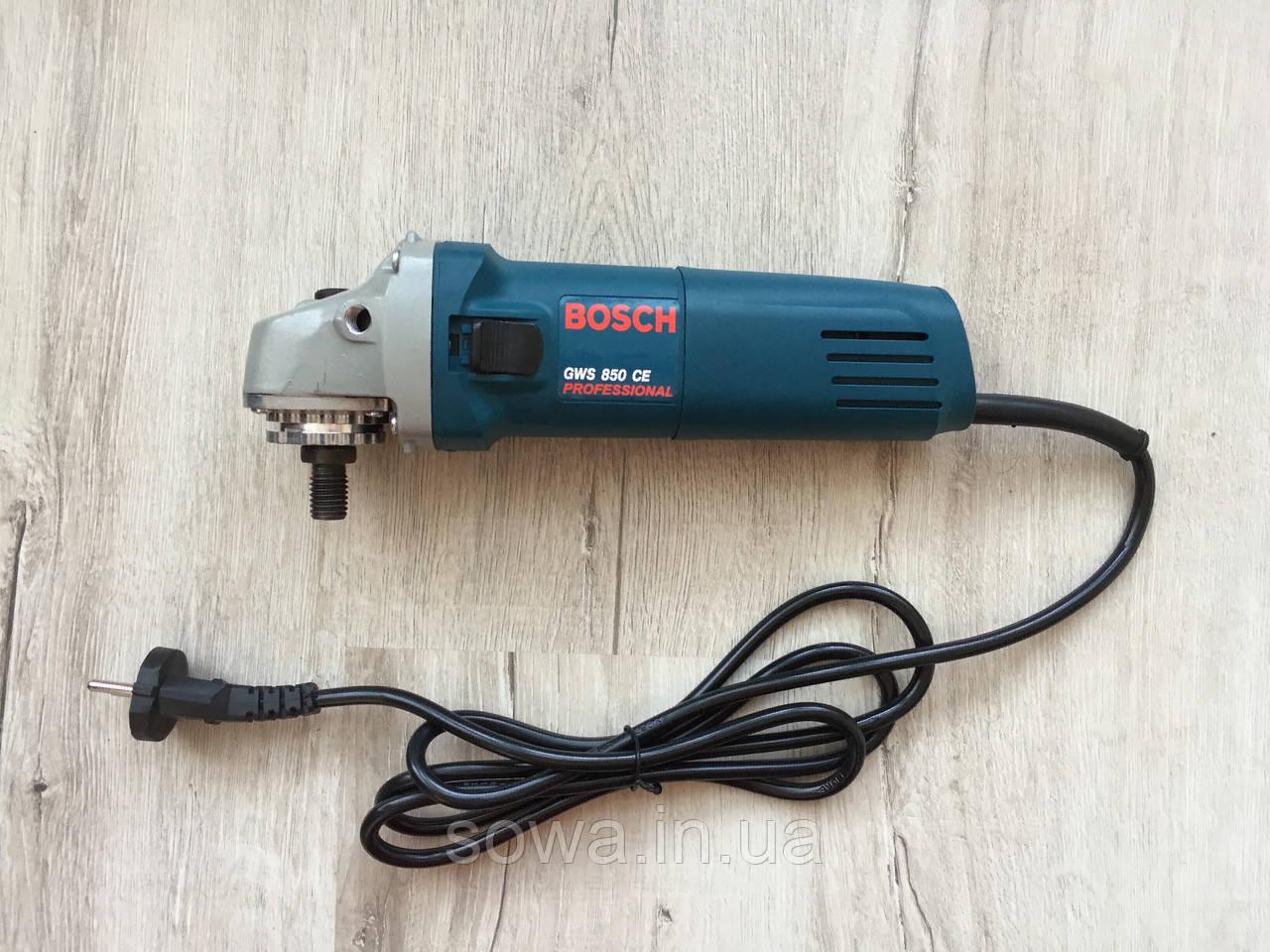 ✔️ Болгарка Bosch/Bosch GWS 850CE з регулятором обертів ( 125 мм, 850 Вт )