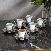 Набор чашек для кофе Серебристая Звезда на 6 персон