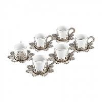 Набор чашек для кофе Серебристая Звезда на 6 персон, фото 1