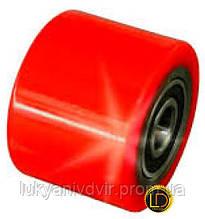 Колесо для роклы VULCAN 80*60 мм PU с рез. покрытием, 2 подшип.
