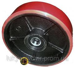 Колесо для роклы VULCAN 160*50 мм PU с рез. покрытием, 2 подшип.