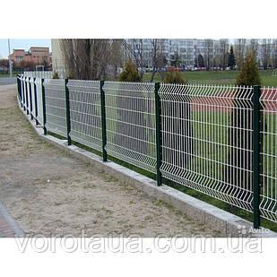 Заборные секции оцинковка 1,26х2,5м ЭКО ЗАГРАДА 3+4мм