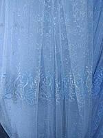 Тюль занавески портьеры ширина 285 см сублимация узор 10 цвет белый, фото 1