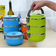 Контейнеры ланч - бокс Easy Lock 3 Layers Stainless Steel Lunch Box 3 шт