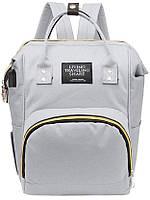 Серый Рюкзак для мам с термокарманами Living Traveling Share , сумка-органайзер трансформер